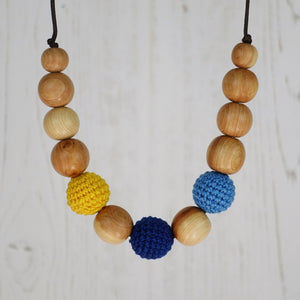 Hamlet: Fair Play Wooden Teething Necklace, Juniper - Pebbles and Lace