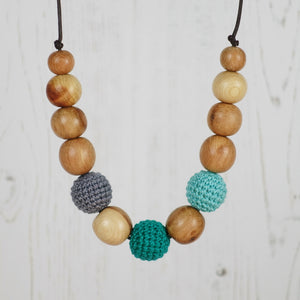 Iago: Fair Play Wooden Teething Necklace, Juniper - Pebbles and Lace