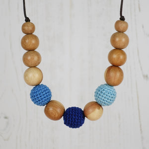 Othello: Fair Play Wooden Teething Necklace, Juniper - Pebbles and Lace