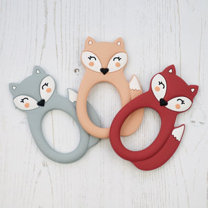 Silicone Fox Teething Toy - Pebbles and Lace