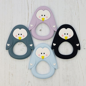 Silicone Penguin Teething Toy - Pebbles and Lace