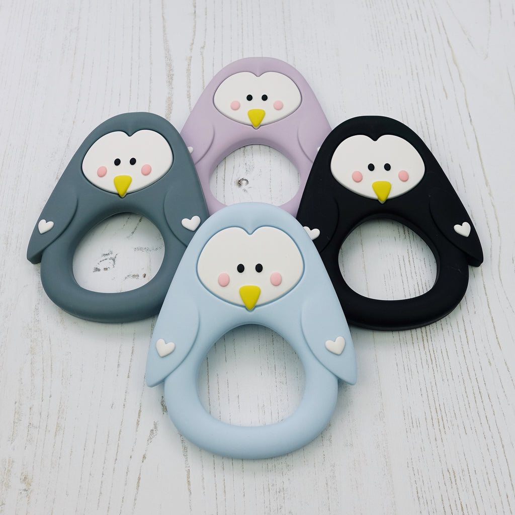 Silicone Penguin Teething Toy