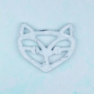 Silicone Fox Teether - Pebbles and Lace