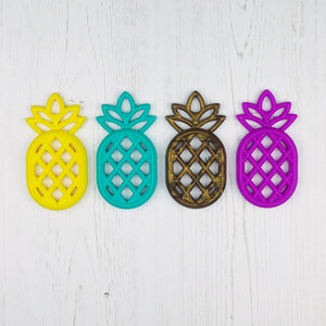 Silicone Pineapple Teether - Pebbles and Lace