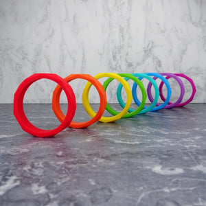Geometric Silicone Teething Bangle - Pebbles and Lace