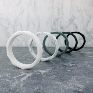 Geometric Silicone Bangle - Pebbles and Lace