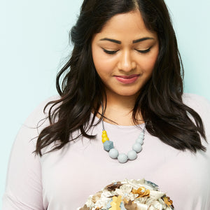 Nuthatch: Sky High Teething Necklace - Pebbles and Lace