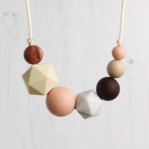 Marie: Inspirations Teething Necklace - Pebbles and Lace