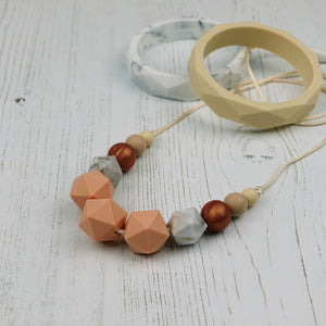 Betelgeuse: Stellar Teething Necklace - Pebbles and Lace