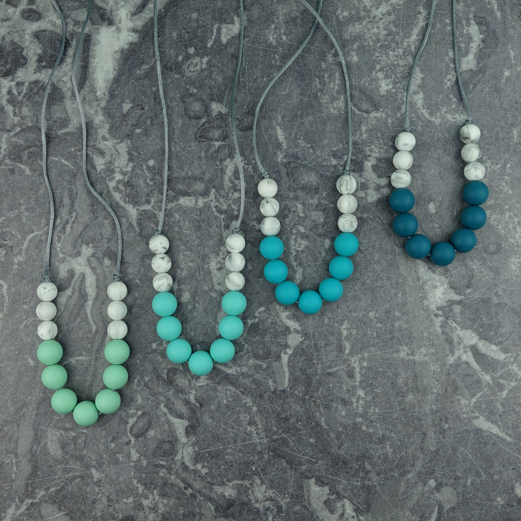 Robin's Egg: Bubbles Teething Necklace