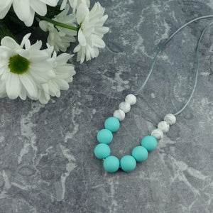 Robin's Egg: Bubbles Teething Necklace - Pebbles and Lace