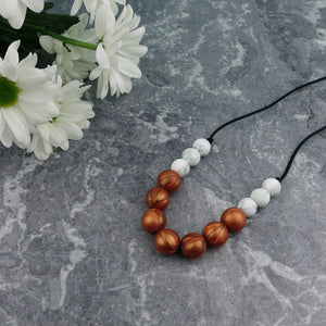 Copper Crush: Bubbles Teething Necklace
