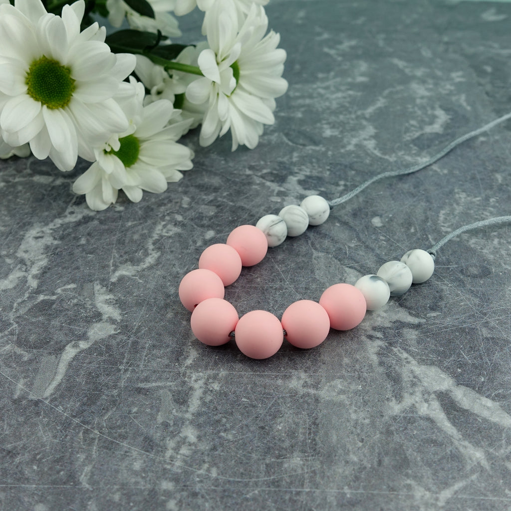 bcf9cc4fd16 Rose Blush: Bubbles Teething Necklace