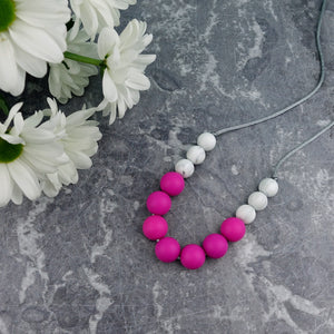Cerise Berry: Bubbles Teething Necklace - Pebbles and Lace