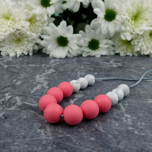 Watermelon Wonder: Bubbles Teething Necklace - Pebbles and Lace