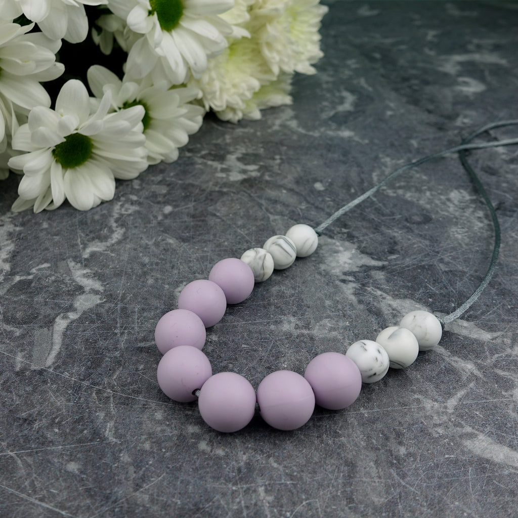 Lavender Love: Bubbles Teething Necklace