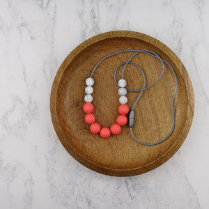 Coral Reef: Bubbles Teething Necklace - Pebbles and Lace