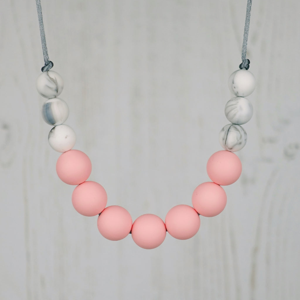 Rose Blush: Bubbles Teething Necklace