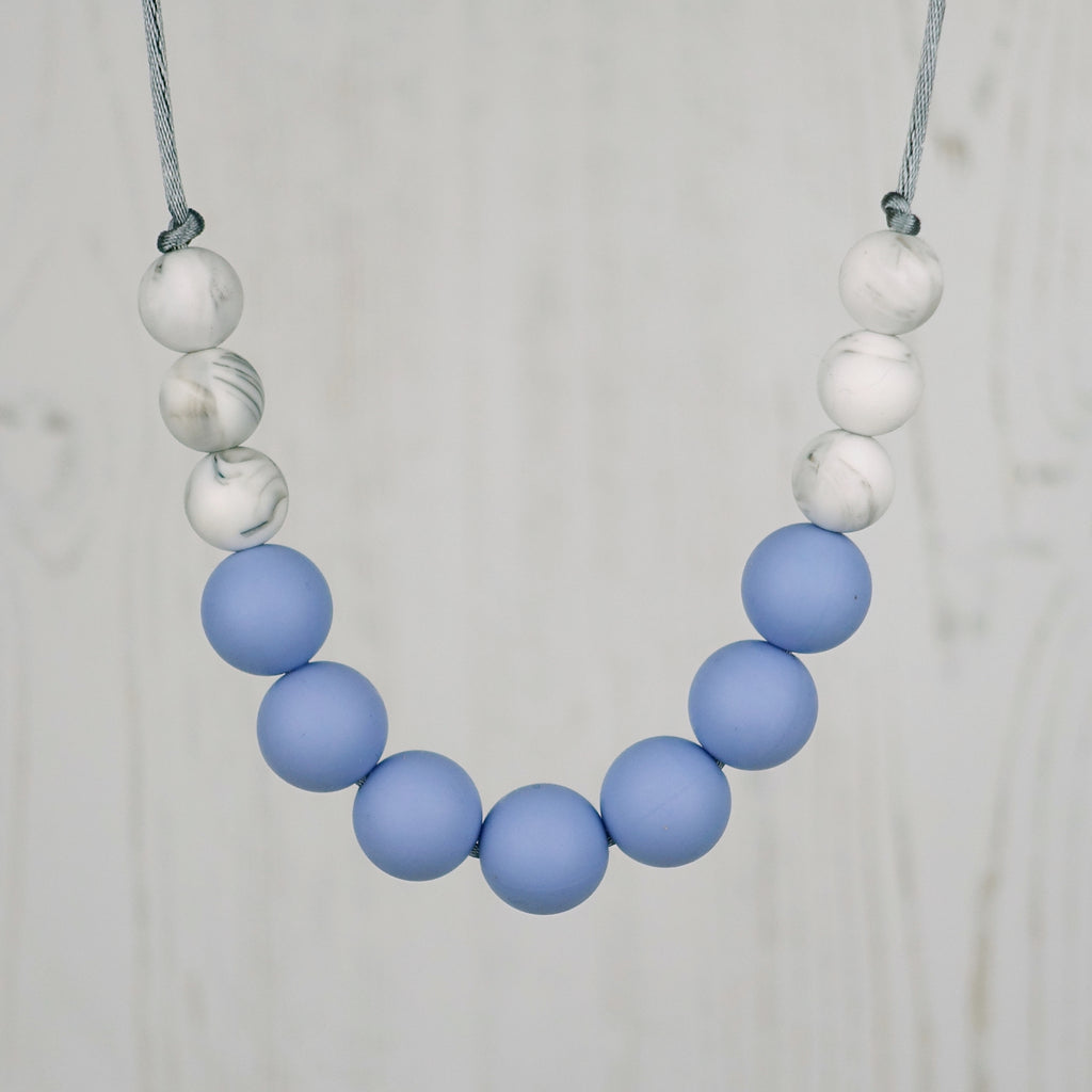 Cornflower Blue: Bubbles Teething Necklace