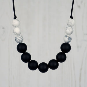 Midnight Sky: Bubbles Teething Necklace - Pebbles and Lace