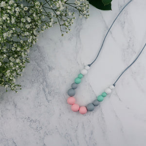Mambo: Dance With Me Teething Necklace - Pebbles and Lace