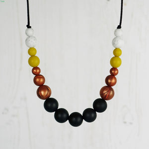 Foxtrot: Dance With Me Teething Necklace - Pebbles and Lace