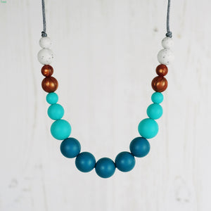 Quickstep: Dance With Me Teething Necklace - Pebbles and Lace