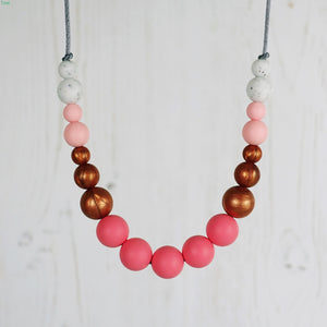Calypso: Dance With Me Teething Necklace - Pebbles and Lace