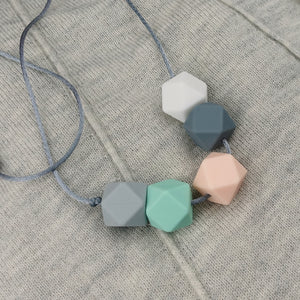 Auckland: Take Five Teething Necklace - Pebbles and Lace