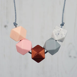Tokyo: Take Five Teething Necklace - Pebbles and Lace