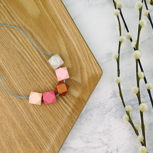 Lima: Take Five Teething Necklace - Pebbles and Lace