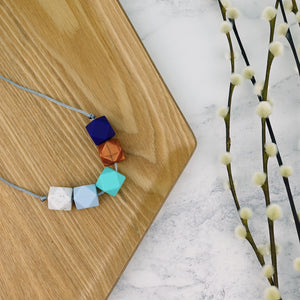 Amsterdam: Take Five Teething Necklace - Pebbles and Lace