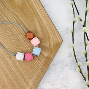 San Francisco: Take Five Teething Necklace - Pebbles and Lace