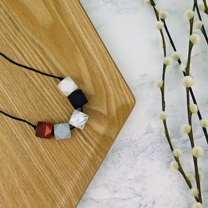 Adelaide: Take Five Teething Necklace - Pebbles and Lace