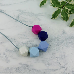 Tromso: Take Five Teething Necklace - Pebbles and Lace
