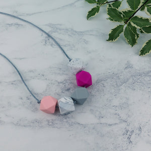 Edinburgh: Take Five Teething Necklace - Pebbles and Lace