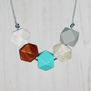 Johannesburg: Take Five Teething Necklace - Pebbles and Lace