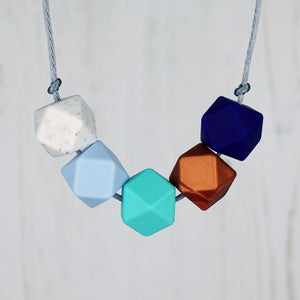 Amsterdam: Take Five Silicone Teething Necklace - Pebbles and Lace