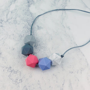 Hercules: Five Stars Teething Necklace - Pebbles and Lace