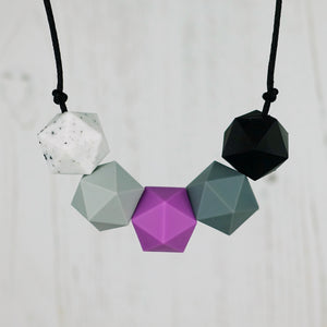 Draco: Five Stars Teething Necklace - Pebbles and Lace
