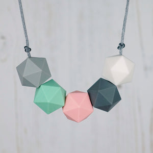 Lyra: Five Stars Silicone Teething Necklace - Pebbles and Lace