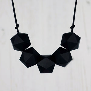 Ursa: Five Stars Teething Necklace - Pebbles and Lace