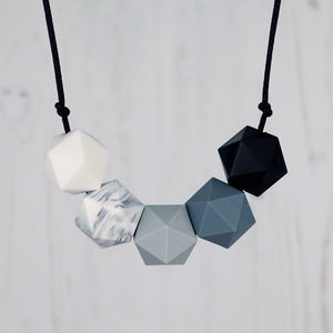 Orion: Five Stars Silicone Teething Necklace - Pebbles and Lace
