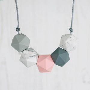 Serpens: Five Stars Teething Necklace - Pebbles and Lace