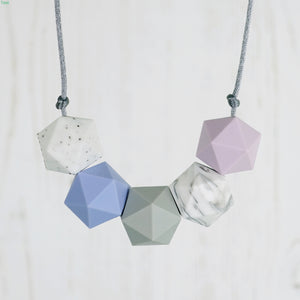 Aries: Five Stars Teething Necklace - Pebbles and Lace