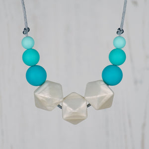 Ivy Fall: Flora Teething Necklace - Pebbles and Lace