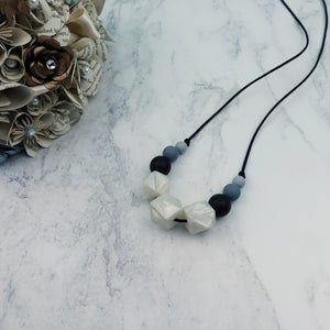 Daisy Desire: Flora Teething Necklace - Pebbles and Lace