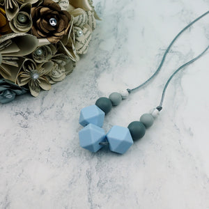 Heather Haze: Flora Teething Necklace - Pebbles and Lace