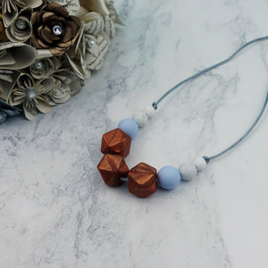 Dahlia Sky: Flora Teething Necklace - Pebbles and Lace
