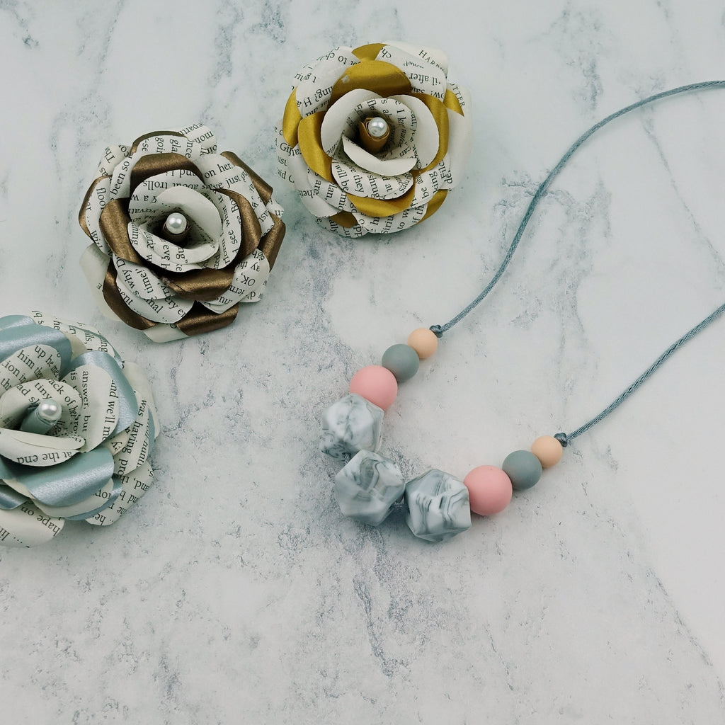 Rose Marble: Flora Teething Necklace